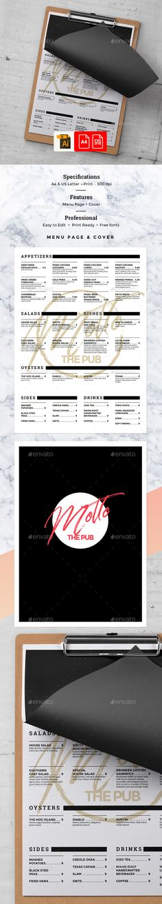 Food Menu Food menu, Food menu template and Menu templates - food menu template