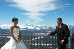 """""""Say I Do With A View"""" at the world's most beautiful ski resort with our Heavenly Gondola Wedding. With unparalleled views from the top of the world, this spectacular Lake Tahoe wedding venue offers a variety of exciting ways to get married on skis or on foot."""