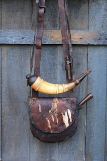 Shot bag and powder horn. A wise frontiersman did not leave home without them.