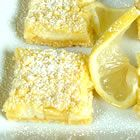 Lemon bars.. made with a lemon cake mix.