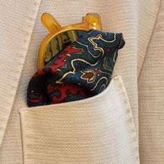 Summer details. It's all about the pocket squares.