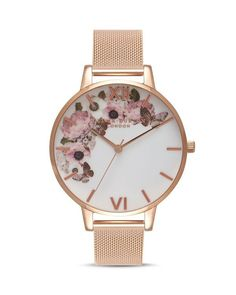 Signature Florals have become synonymous with the Olivia Burton brand. Featuring anemones, Signature Floral Dusty Pink and Rose Gold Watch Olivia Burton Butterfly Jewelry, Rose Jewelry, Heart Jewelry, Jewelry Accessories, Gold Jewellery, Jewlery, Jewelry Hooks, Jewelry Box, Jewelry Making