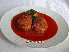 Mäsové guľky v paradajkovej omáčke Potato Salad, Potatoes, Chicken, Meat, Ethnic Recipes, Food, Boleros, Essen, Potato