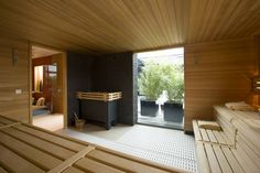 sauna at home in garden  http://www.sopra.de/wellness/saunabau/
