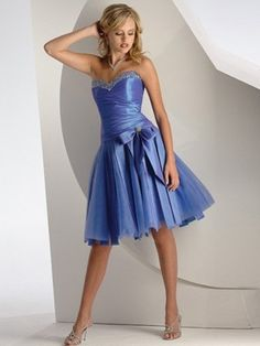 2012 kurzes trägerloses Cocktailkleid aus Taffeta mit Perlen