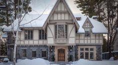 gray english tudor home