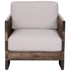 Kathy Kuo Home Watson Modern Rustic Lodge Chunky Wood Oak Square Arm Chair Classic Furniture, Rustic Furniture, Cool Furniture, Furniture Stores, Furniture Chairs, Oakwood Furniture, Furniture Design, Furniture Handles, Furniture Movers