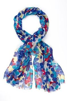 blue scarf with pokie dots! Must have