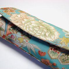 Vintage kimono clutch #purse