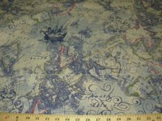 Old world fabric for quiltswould love to do this for a throw or fossil machine 3 hand date leather watch old world mapsupholstery fabricsdeer gumiabroncs Images