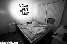 i love losing sleep because of you, i just dont want to miss a thing:) Cant Sleep At Night, I Cant Sleep, Toddler Bed, Insomnia, Furniture, Rooms, Home Decor, Sayings, Quotes