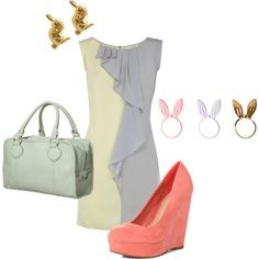 Spring Pastels, created by today-i-want.polyvore.com Bunnies & rabbits too!