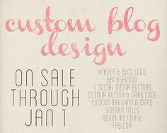 Custom Blogger Blog Design 60 off SALE by WhitSpeaks on Etsy, $40.00
