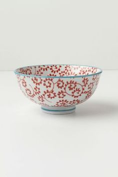 I adore these Inside Out Bowls from Anthropologie.  I have two of each and am not sure that's enough.  What if one breaks?  What if Anthro stops selling them?  Horrors!