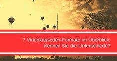 7 Videokassetten-Formate im Überblick:  1. VCR – der Einzug der Videokassetten ins Home Entertainment begann  2. U-Matic – das Format für Außendrehs  3. VHS-Kassette – der Sieger im Formatkrieg  4. Betamax – trotz besserer Qualität der Verlierer  5. Video 2000 – der Nachfolger des VCR-Formates  6. Video8 und Hi8 – gedacht für den mobilen Bereich  7. MiniDV – Dokumentarfilmer schwören darauf