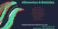 Servicio de Catering PBX. (2) 386 42 93 WhatsApp. (+57) 318 296 34 51 iec@integracioneventoscali.com