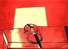 Raoul Dufy 1877-1953 Red Violin