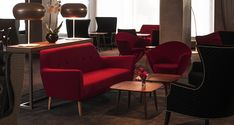 Hotel Mercure Paris: comtemporary furniture with a blod colour touch to create an amazing bespoke project. Beautiful Interior Design, Best Interior, Living Room Sets, Home Living Room, Modern Sofa, Living Room Inspiration, Home Decor Trends, Sofa Design, Furniture