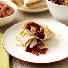 ... slow cooker chicken burritos more eating healthy recipes slow cooker