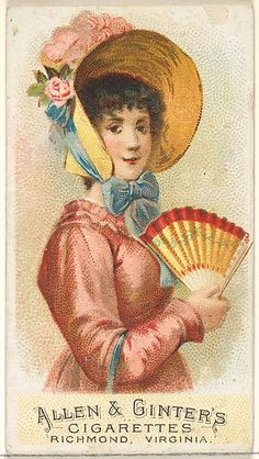 Plate 2, from the Fans of the Period series (N7) for Allen & Ginter Cigarettes Brands, 1889. The Metropolitan Museum of Art, New York. The Jefferson R. Burdick Collection, Gift of Jefferson R. Burdick (63.350.201.7.2)