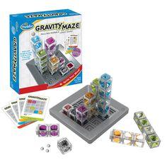 Een supergaaf knikkerlabyrint. Breng jij jouw knikker naar de rode eindtoren via de juiste weg? Los jij alle 60 opdrachtkaarten op? Wij doen het je voorlopig nog zeker niet na!  Gravity maze is een supermooi vormgegeven behendigheidspel met elementen van een breikbreker, geduldspel en bordspel in 1.�  Volgens de makers (Thinkfun) zal dit knikkerdoolhof je visuele perceptie en logisch denkvermogen zwaar op de proef stellen. Nou dat zeker, maar het is vooral supercool om te doen en te zien!�…