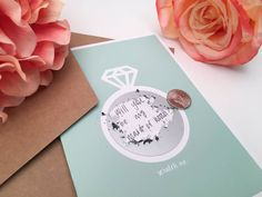 Order these cards blank to write a personal message yourself, or have us customize it for you! These scratch-off cards are the cutest way to
