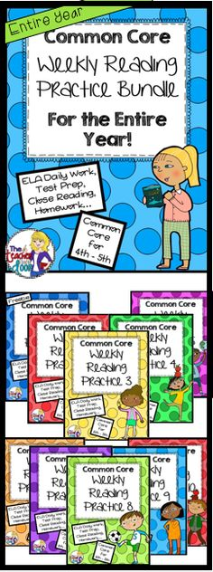 280 pages! An entire year of Common Core Weekly Reading Practices will spiral reading skills to help your students truly grow! Includes 40 passages with comprehension questions for each and editable question pages too! Great as homework, morning work, daily work, close reading, test prep, or as an assessment tool. (TpT Resource)
