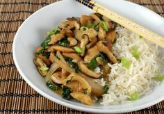 Chicken, Shiitake, and Kale Stir Fry, I sued this recipe coupled with the crispy chicken recipe