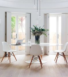 modern white dining room designs