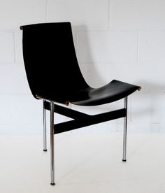"KATAVOLOS ""T CHAIR"" FOR LAVERNE, 1952  Designed by William Katavolos, Douglas Kelly, and Ross Littell in 1952 for Laverne International, the celebrated ""T-chair"" was acclaimed by critics and consumers during its brief production run.    Over the past half-century the Katavalos ""T chair"" has become a cult item in design circles.     An iconic example of avant-garde mid-century American design that remains remarkably contemporary and striking."