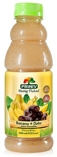 Banana & Date Juice Smoothie by Priniv Nutrition Drinks, Ml B, Juice Smoothie, Dating, Banana, Packaging, Contemporary, Food, Essen