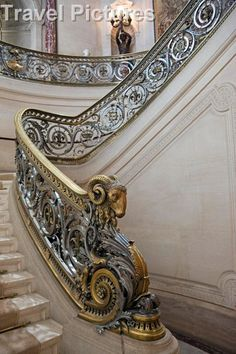 The Staircase of Honour - Chateau Chantilly, Oise, France