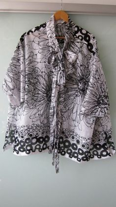 Printed Swiss Cotton Gauze Cotton Top with Tie by UlricDesign, $125.00