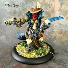 Privateer Press Warmachine Hordes Trollbloods Braylen Wanderheart, Trollkin Outlaw