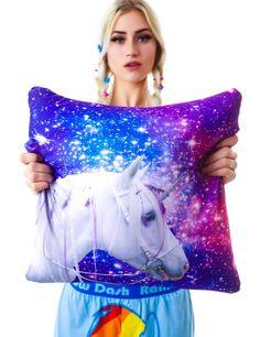 Beloved Shirts Galaxy Unicorn Pillow   Dolls Kill
