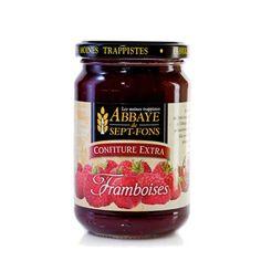 La confiture extra de FRAMBOISES des moines trappistes de Sept-Fons a été préparée avec 55g de fruits pour 100g de confiture.  #produits abbaye