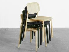 HAY Soft Edge Chair in Wood STACKABLE CHAIRS