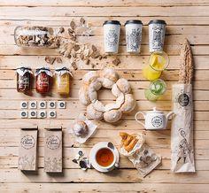 Illustrative Verpackungen für die Louis Charden Bakery