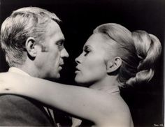 Steve McQueen and Faye Dunaway in The Thomas Crown Affair directed by Norman Jewison, 1968