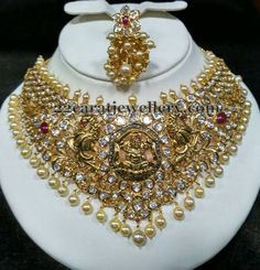 Jewellery Designs: Laxmi Peacock Pachi Necklace