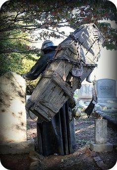 """Halloween 2006 - Me as """"Zombie Gravedigger"""" Halloween Tombstones, Halloween Graveyard, Holidays Halloween, Spooky Halloween, Halloween Costumes, Halloween Inspo, Funny Costumes, Halloween Animatronics, Halloween Coffin"""