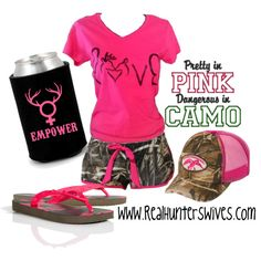 """Pink & Camo <3"" by realhunterswives on Polyvore"