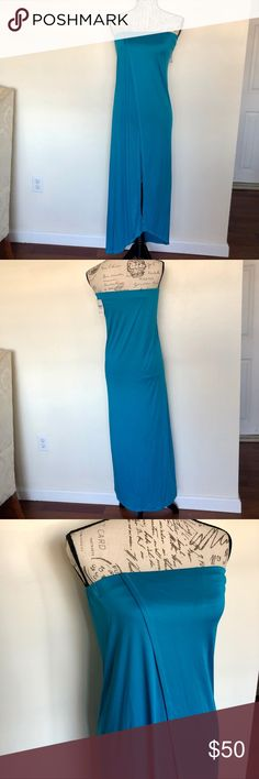 Rachel Roy Drop Anchor Strapless Dress Beautiful gleaming drop anchor dress by Rachel Roy in Aegean Sea blue! Perfect for this upcoming prom 💙 brand new with tag never worn & in PERFECT condition! Features built in support for the tatas as shown in picture 🙂 I also have great NWT high heels listed in my closet that would go 👌🏻 with this dress.. bundle for an amazing savings deal!! I love offers! RACHEL Rachel Roy Dresses Prom