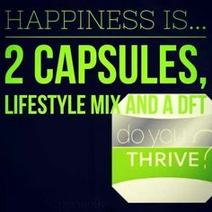 How to Take Thrive! 1: take capsules first thing in the morning! Take 1 capsule the first couple of weeks if you have a sensitive system! (I strap mine to my phone so I don't forget to take them) 2: 20-40 mins later mix your lifestyle mix (in 8-16 oz of water, milk, juice or make into a smoothie) 3: apply a fresh DFT to clean dry skin! Drink plenty of water and eat sensibly! That's it! PM me and let me help you get your own Experience started! 8 weeks to optimum health