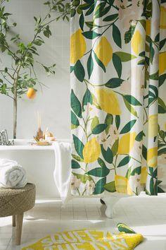 *BNIP*  Easy Clean Shower Curtain Stylish Plain /& Funky Designs