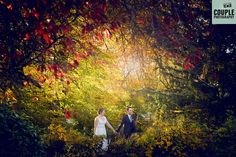 The Bride & Groom in the beautiful Autumnal colours, walk hand in hand through the light. An epic wedding photo! Wedding at Castle Dargan Hotel Photographed by Couple Photography. New Years Eve Kiss, Couple Photography, Bride Groom, Wedding Photos, Castle, Colours, Autumnal, Couples, Classic