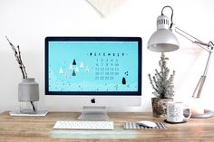 Cute Free Christmas Desktop Wallpaper | Chalk Kids Blog