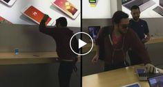 Cliente Furioso Destrói Vários Aparelhos Numa Loja Da Apple Em França http://www.desconcertante.com/cliente-furioso-destroi-varios-aparelhos-numa-loja-da-apple-em-franca/