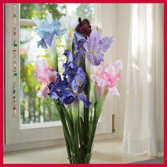 6pcs Silk Artificial Flower Iris Flowers Wedding Party Home Decor DIY 68cm/27