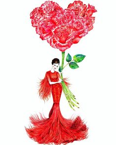 1/27/17: 🍎🏮❤Today is Chinese New Year💃🏻Wearing something red & festive💋Wishing you happiness and prosperity for this Rooster year!🐔🐥🐣 _____________________________________________________ #sunnygu #chinesenewyear #lunernewyear #happycny #happychinesenewyear #love #festival #fashion #fashionillustration #fashionillustrator #fashionista #red #girl #beauty #roses #valentines #valentinesday #sharelove #flowers #flowerlover #fashionillustrated #flowermood #flowerpower #roosteryear #🐣 #🐔